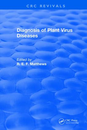 Diagnosis of Plant Virus Diseases: 1st Edition (Hardback) book cover