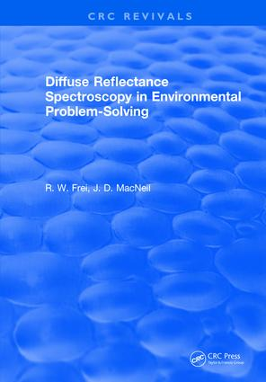 Diffuse Reflectance Spectroscopy Environmental Problem Solving: 1st Edition (Hardback) book cover