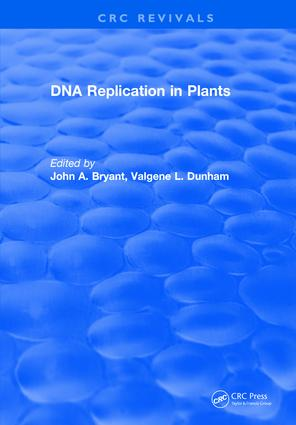 Dna Replication In Plants: 1st Edition (Hardback) book cover