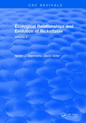 Ecological Relationships and Evolution of Rickettsiae: Volume II, 1st Edition (Hardback) book cover