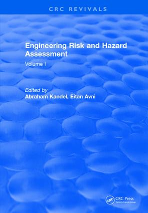 Engineering Risk and Hazard Assessment: Volume I, 1st Edition (Hardback) book cover