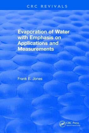 Evaporation of Water With Emphasis on Applications and Measurements: 1st Edition (Hardback) book cover