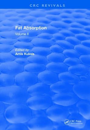 Fat Absorption: Volume II, 1st Edition (Hardback) book cover