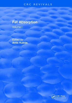 Fat Absorption: Volume I, 1st Edition (Hardback) book cover