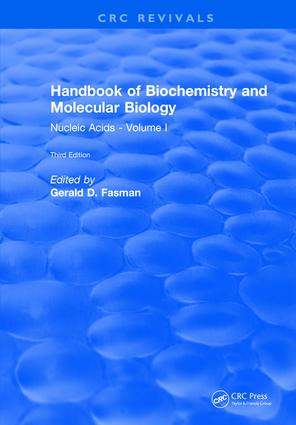 Handbook of Biochemistry: Section B Nucleic Acids, Volume I, 3rd Edition (Hardback) book cover