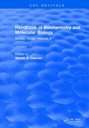 Handbook of Biochemistry: Section B Nucleic Acids, Volume II, 3rd Edition (Hardback) book cover