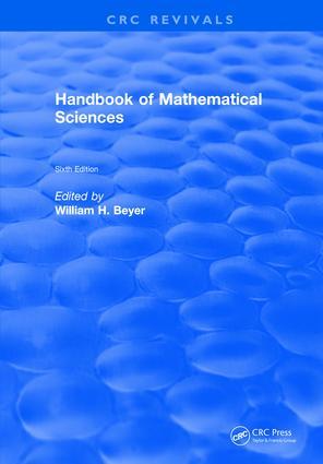 Handbook of Mathematical Science: 6th Edition (Hardback) book cover