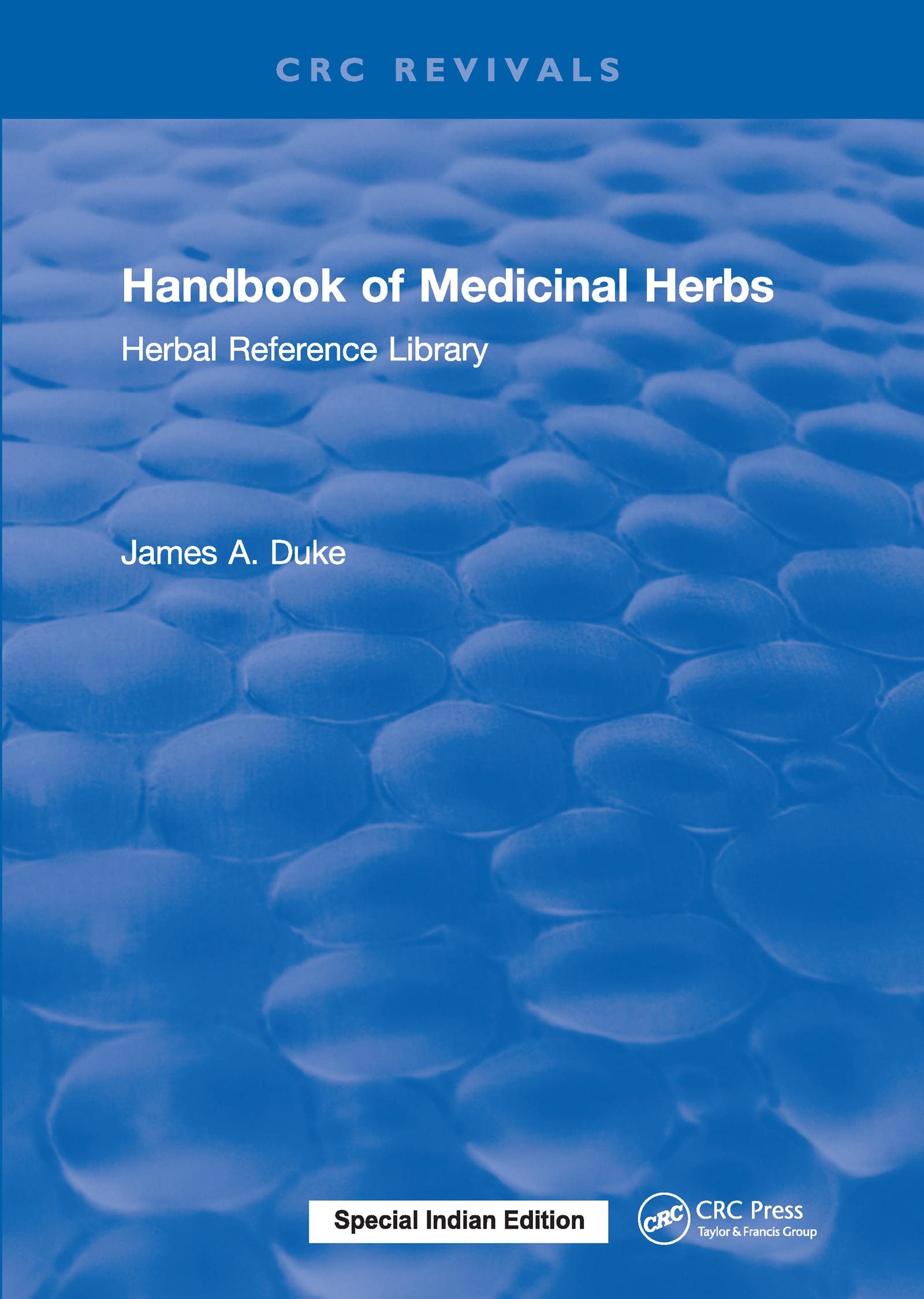 Handbook of Medicinal Herbs: Herbal Reference Library, 1st Edition (Hardback) book cover
