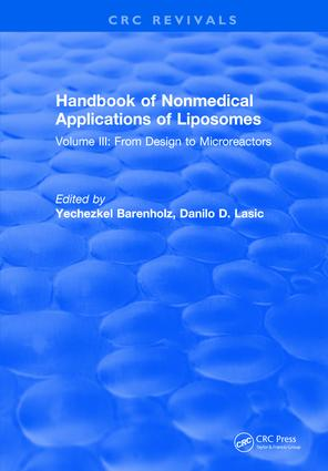 Handbook of Nonmedical Applications of Liposomes: Volume III: From Design to Microreactors, 1st Edition (Hardback) book cover