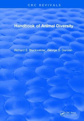 Handbook of Animal Diversity: 1st Edition (Hardback) book cover