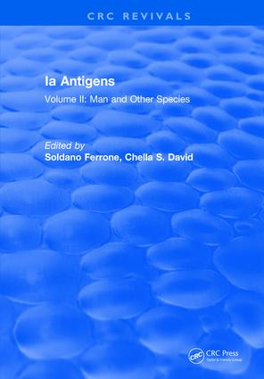 Ia Antigens: Volume II: Man and Other Species, 1st Edition (Hardback) book cover