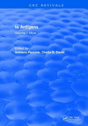 Ia Antigens: Volume I: Mice book cover