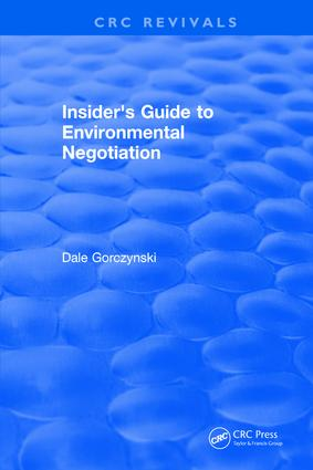 Insider's Guide to Environmental Negotiation book cover