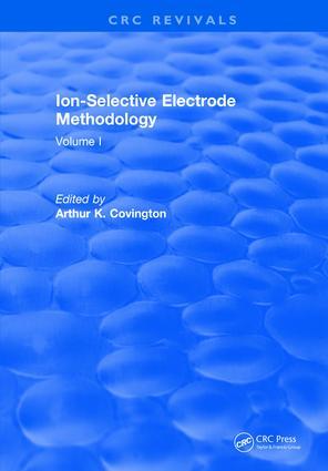 Ion Selective Electrode Method: Volume 1, 1st Edition (Hardback) book cover