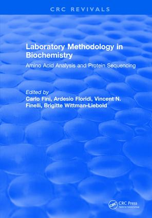 Laboratory Methodology in Biochemistry: Amino Acid Analysis and Protein Sequencing, 1st Edition (Hardback) book cover