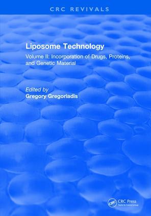 Liposome Technology: Volume II, 1st Edition (Hardback) book cover
