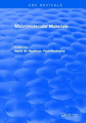 Macromolecular Materials: 1st Edition (e-Book) book cover