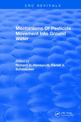 Mechanisms Of Pesticide Movement Into Ground Water: 1st Edition (Hardback) book cover