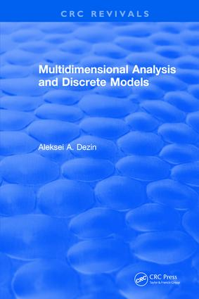 Multidimensional Analysis and Discrete Models: 1st Edition (Hardback) book cover