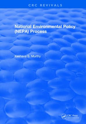 National Environmental Policy (NEPA) Process: 1st Edition (Hardback) book cover