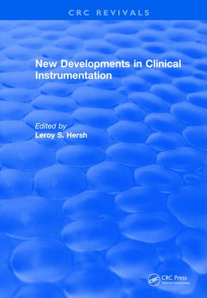 New Developments in Clinical Instrumentation: 1st Edition (Hardback) book cover