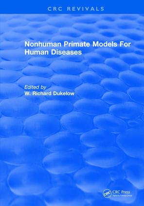 Nonhuman Primate Models For Human Diseases: 1st Edition (Hardback) book cover