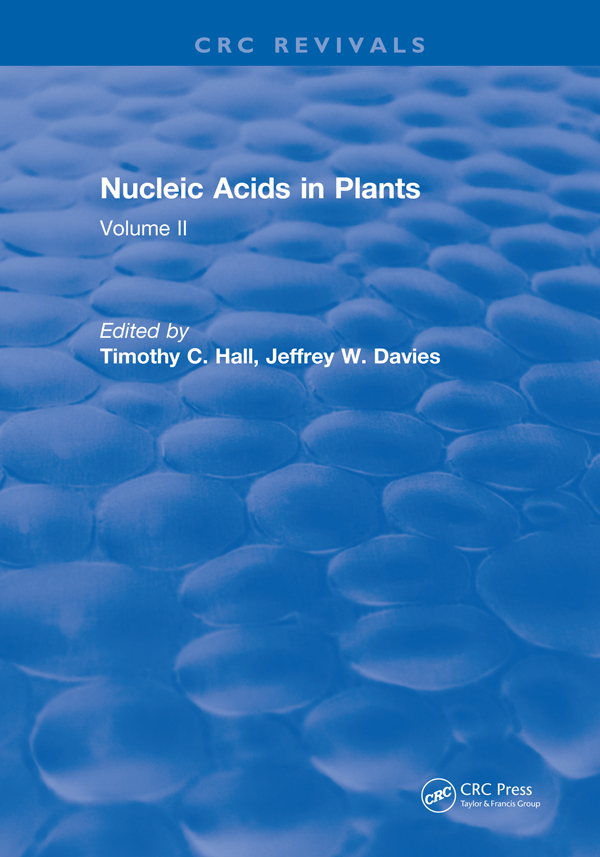 Nucleic Acids In Plants: Volume II, 1st Edition (Hardback) book cover