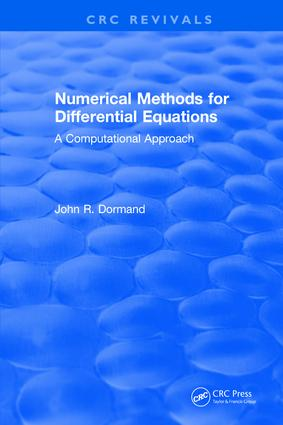 Numerical Methods for Differential Equations: A Computational Approach, 1st Edition (Hardback) book cover