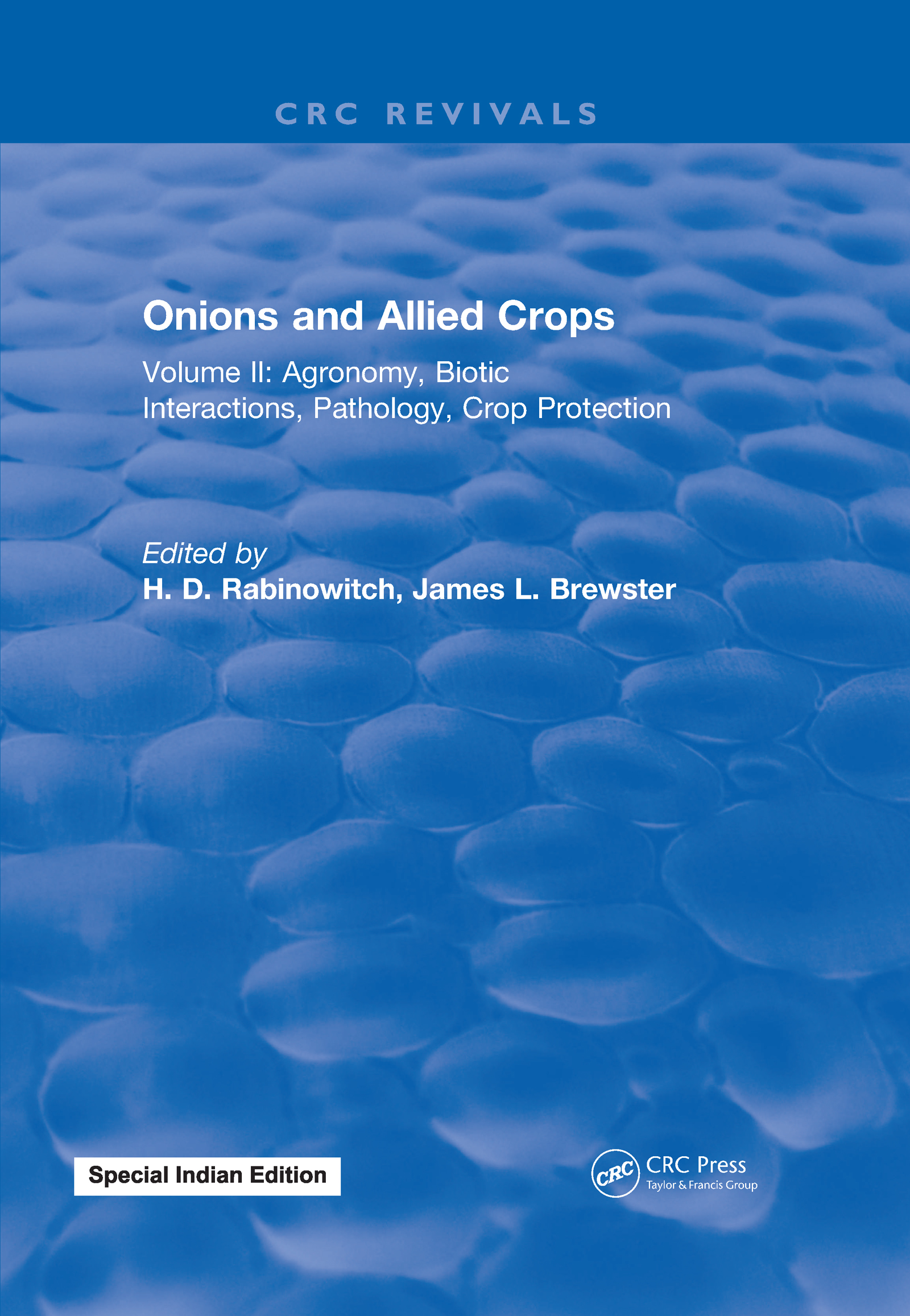 Onions and Allied Crops: Volume II: Agronomy Biotic Interactions, 1st Edition (e-Book) book cover