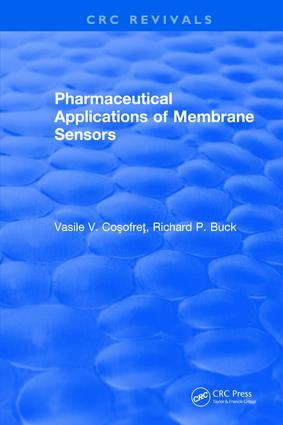 Pharmaceutical Applications of Membrane Sensors: 1st Edition (Hardback) book cover