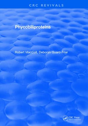 Phycobiliproteins: 1st Edition (Hardback) book cover