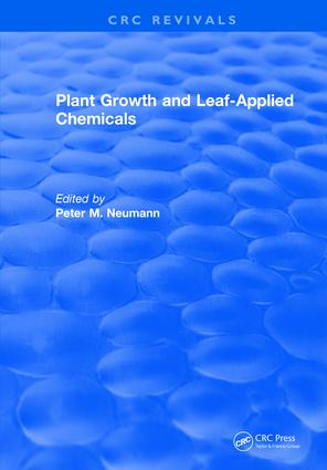 Plant Growth and Leaf-Applied Chemicals: 1st Edition (Hardback) book cover