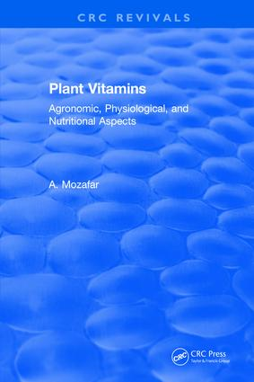 Plant Vitamins: 1st Edition (Hardback) book cover
