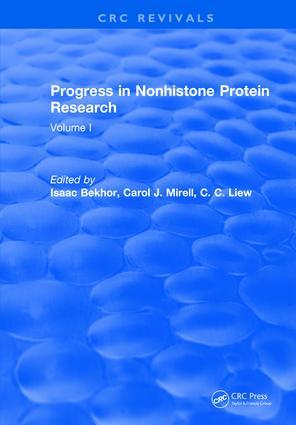 Progress in Nonhistone Protein Research: Volume I, 1st Edition (Hardback) book cover