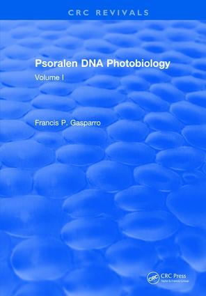 Psoralen Dna Photobiology: Volume I, 1st Edition (Hardback) book cover