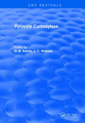 Pyruvate Carboxylase: 1st Edition (Hardback) book cover
