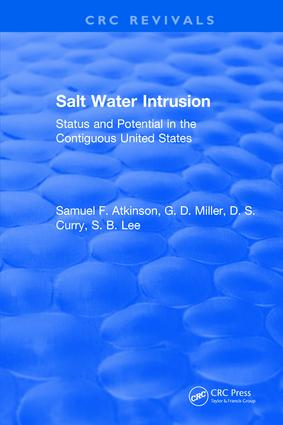 Salt Water Intrusion: 1st Edition (Hardback) book cover