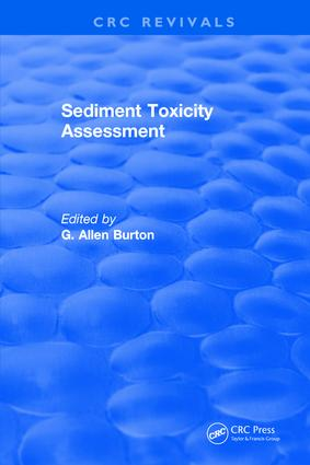 Sediment Toxicity Assessment: 1st Edition (Hardback) book cover