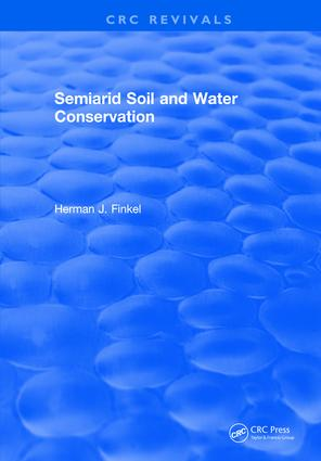 Semiarid Soil and Water Conservation: 1st Edition (Hardback) book cover