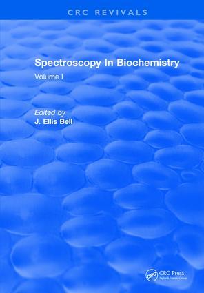 Spectroscopy In Biochemistry: Volume I, 1st Edition (Hardback) book cover