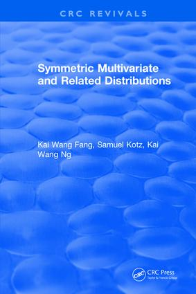 Symmetric Multivariate and Related Distributions: 1st Edition (Hardback) book cover
