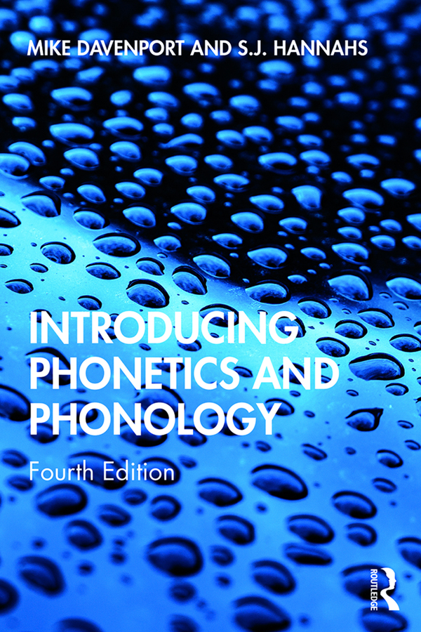 Introducing Phonetics and Phonology book cover