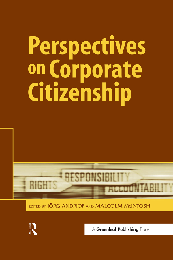 Perspectives on Corporate Citizenship