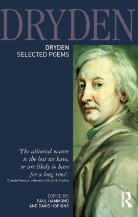 Dryden:Selected Poems book cover