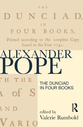 The Dunciad in Four Books book cover
