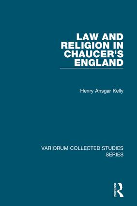 Law and Religion in Chaucer's England book cover