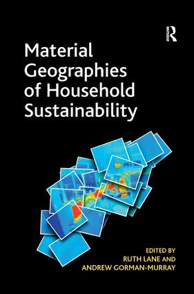 Material Geographies of Household Sustainability (Hardback) book cover