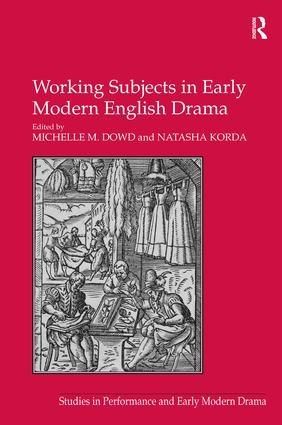 Working Subjects in Early Modern English Drama (Hardback) book cover