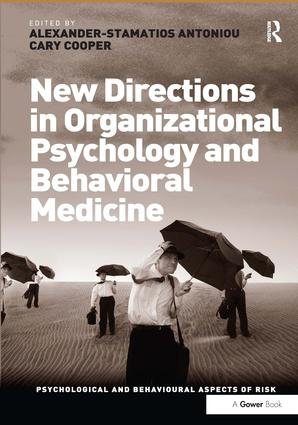 New Directions in Organizational Psychology and Behavioral Medicine: 1st Edition (Hardback) book cover