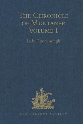 The Chronicle of Muntaner: Volume I book cover